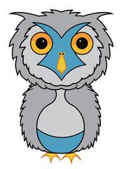 snow owl illustration