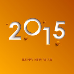 New Year abstract orange card