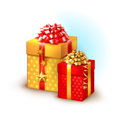Christmas icon with gift boxes