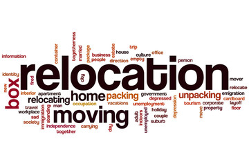 Relocation word cloud