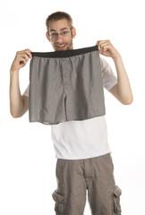 Holding Underwear