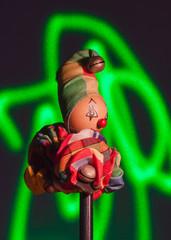 Wooden Clown Green Laser