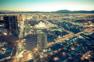 Tuinposter Las Vegas Las Vegas cityscape