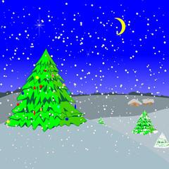 New Year's evening-Illustration.