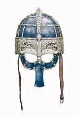 Replica of a medieval warrior Viking helmet.