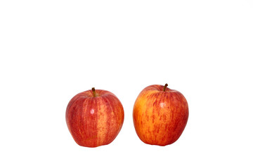 Two Gala Apples Isolated On White