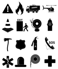Emergency icons set