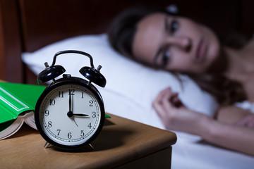 Alarm clock showing 3 a.m.