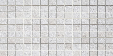 white mosaic wall tile texture and background