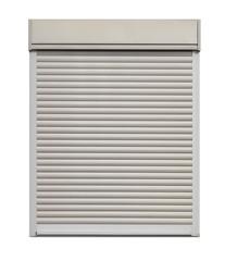 White door roller shutter isolated on white  background