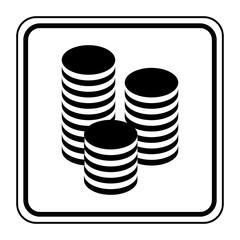 Logo pièces. Monnaie.