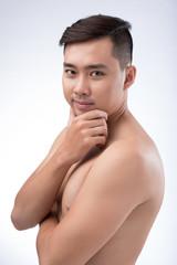 Shirtless handsome man