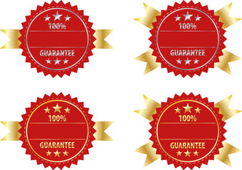 Vector gold sign and silver sign  label template