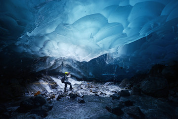 Photo sur Plexiglas Glaciers ice cave in alaska