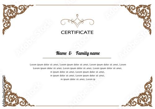 Certificate design template thai pattern vector illustration certificate design template thai pattern vector illustration yadclub Images