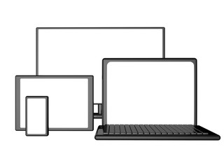 Monitor, laptop, smartphone, tablet