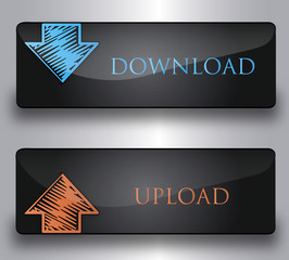 We buttons download upload