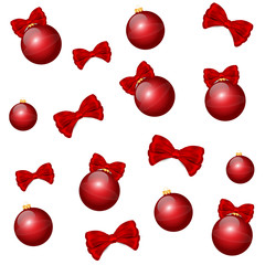 Nice  red christmas balls background