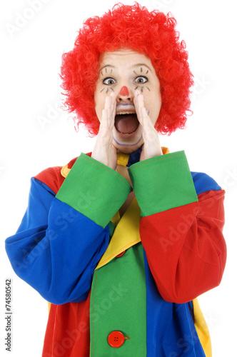 lustiger clown ruft und schreit stockfotos und lizenzfreie bilder auf bild 74580542. Black Bedroom Furniture Sets. Home Design Ideas