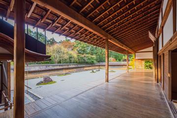 Zen Rock Garden in Ryoanji Temple Wall mural