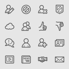 Community. Social media icons set