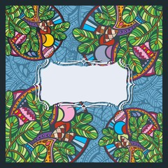 Christmas holiday greeting card template