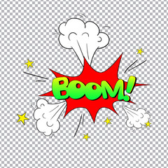 Comic bubbles vector isolated illustration