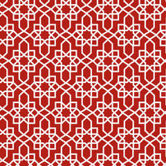 red moroccan pattern
