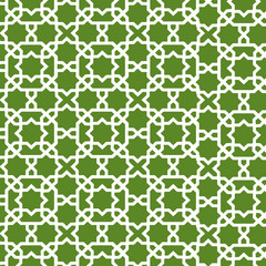 green moroccan pattern