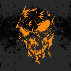 Horrible skull illustration