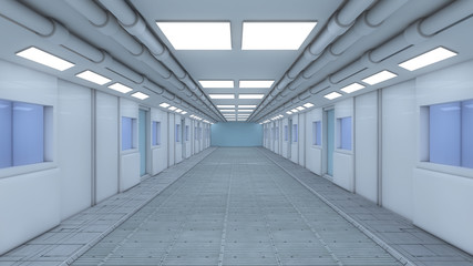 Futuristic background corridor for movie