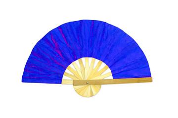wooden blue fan