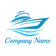 yacht and boat logo