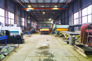 interior of mechanical workshop