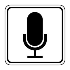 Logo microphone. Micro.