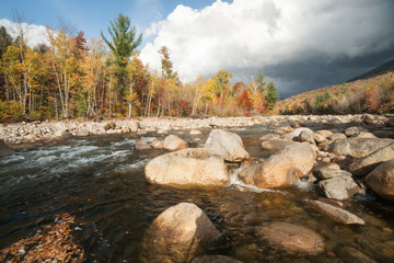 Pemigewasset River and  lower Loon Mountain, Lincoln