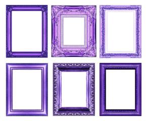 set of vintage golden frame with blank space