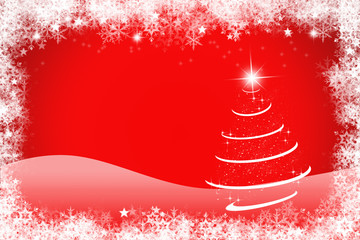 Colourful red and white christmas background