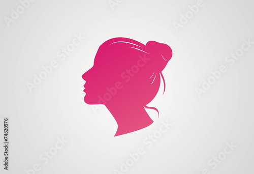 Woman Hair Style Silhouette Logo Vector Stock Image And Royalty