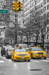 Photo sur Toile New York TAXI New York yellow taxi cabs