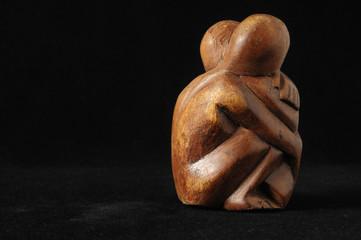 Obraz Lovers Sculpture - fototapety do salonu