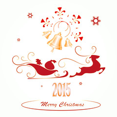 Merry Christmas background,  vector illustration