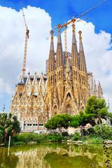 The Basilica of La Sagrada Familia .Barcelona, Catalonia
