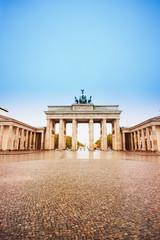 Fototapeten Berlin Pariser Platz and Brandenburger Tor in Berlin