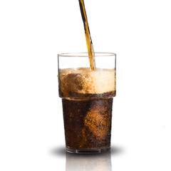 Cola Pour Into Glass