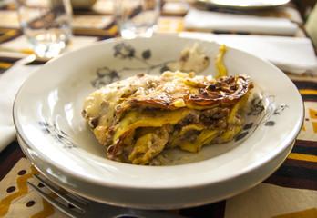 Italian lasagna handmade