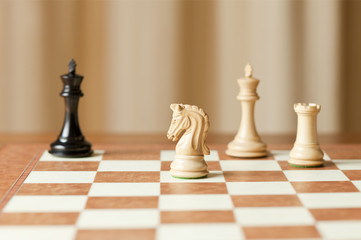 moving chess pieces on chessboard
