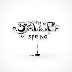 Lettering spring sale
