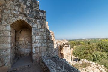 Central crusader tower at Yehiam