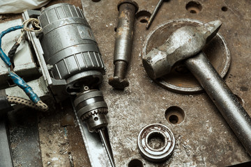 Old mechanic tools